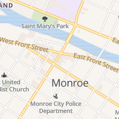 Directions for Calkins Law Offices in Monroe, MI 53 S Monroe St Frnt