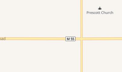 Directions for Nester Creek Convenience in Prescott, MI 4971 E M 55