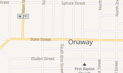 Directions for Red Oak Gunsmithing in Onaway, MI 20508 State St