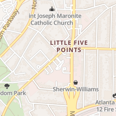 Directions for The Five Spot in Atlanta, GA 1123 Euclid Ave NE