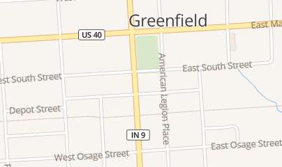 Directions for Vapor Lock in Greenfield, IN 125 S State St Ste B