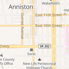 Directions for Rack Roll Billards in Anniston, AL 917 Noble St