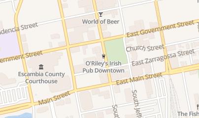 Directions for O'Riley's Irish Pub in Pensacola, fl 321 S Palafox St