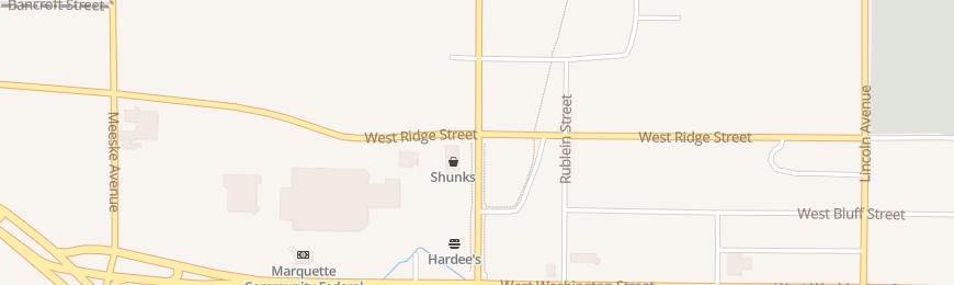 Directions For SHUNK FURNITURE OF MARQUETTE In Marquette, MI 1121 W Ridge St