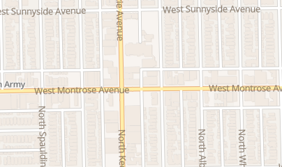 Directions for David Liquor in Chicago, IL 3158 W Montrose Ave