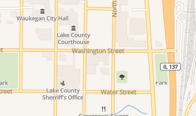Directions for Burgundy Room in Waukegan, IL 215 Washington St