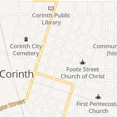 Directions for Rebecca Coleman Phipps Atty in Corinth, MS 605 Taylor St