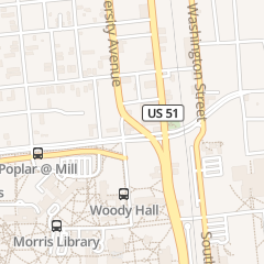 Directions for Underground Pub & Grille Poblano Grill in Carbondale, IL 717 S University Ave