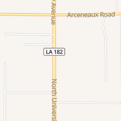 Directions for A Louisiana Towing in Carencro, LA 3830 N University Ave