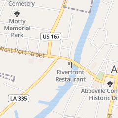 Directions for River Front in Abbeville, LA 503 W Port St