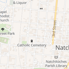 Directions for Asbury United Methodist Church in Natchitoches, LA 704 5th St