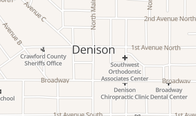 Directions for Sextro Gregory J Attorney in Denison, IA 40 N Main St