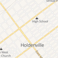 Directions for Allford Patricia A in Holdenville, OK 208 N Oak St