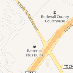 Directions for Taco Casa in Rockwall, TX 2008 S Goliad St