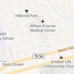 Directions for J M Benson MD - Ofc in Sherman, TX 300 N Bryant Ave