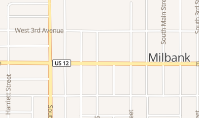 Directions for Midtown Liquors in Milbank, SD 107 E 4th Ave