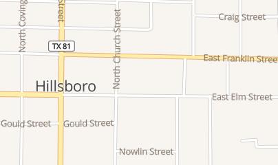 Directions for Main Florist in Hillsboro, TX 215 E Elm St